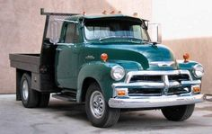1954 Chevy 3/4 Ton Dually Flat Bed Truck