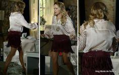 moda da novela Em Família - look da Shirley dia 26 de abril