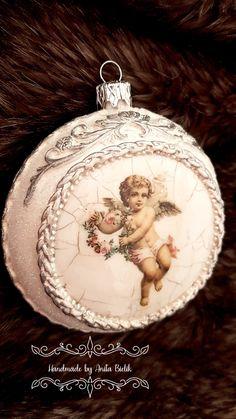 Handmade Christmas Tree, Christmas Tree Toy, Christmas Balls, Christmas Diy, Halloween Ornaments, Christmas Tree Ornaments, Christmas Craft Projects, Christmas Crafts, Christmas Shows