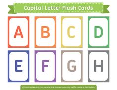 Capital Letter Flash Cards