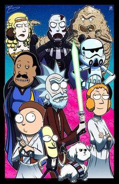 Rick and Morty - Star Wars