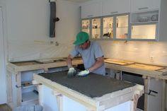 Hvordan støpe benkeplate i betong - Byggmakker+