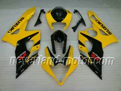 SUZUKI GSX-R 1000 2005-2006 K5 ABS Fairing - Deep Yellow #2005gsxr1000fairings #06gsxr1000fairings