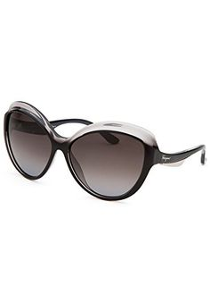 be41c22852ac Salvatore Ferragamo SF705S01359 Womens Round Black Translucent Sunglasses      Details can be found by