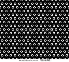 Vector seamless pattern, abstract monochrome background with simple geometric figures, small rippled hexagons. Black & white geometric texture, dark version. Design for prints, decoration, textile