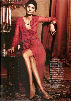 Giovanna Battaglia - Vogue Brazil.  women's fashion and street style.  boho chic.  maxi dress. gown.