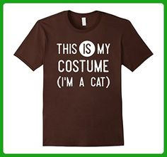 Mens This IS My Costume I'm A Cat Shirt, Funny Halloween Gift 2XL Brown - Holiday and seasonal shirts (*Amazon Partner-Link)