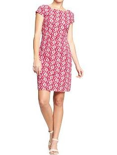 Women's Embroidered Floral Shift Dresses | Old Navy