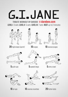 Workout of the Day: G.I. Jane  #darebee #wod #workout #fitness