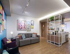 Zona de estar de un apartamento de 70 metros