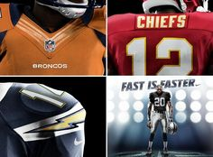 NIKE AFC West. Broncos going back to orange this year.