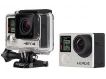 "Câmera Filmadora GoPro Hero4 Silver Edition 12MP - Visor 1,5"" Touch Filma Full…"