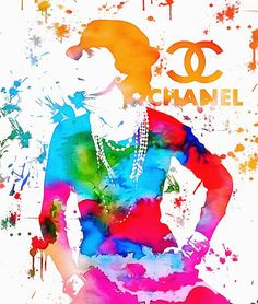 If you love Chanel products and art there is nothing better! This colorful representation of Coco Chanel is perfect for a unique gift idea for her! Get it as a phone case, throw pillow, framed print, canvas and more! See all of our work at http://mndphoto.com
