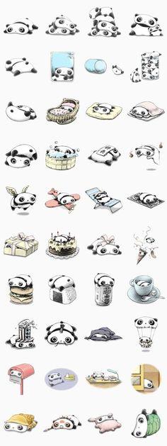 Panda stickers Tarpanda
