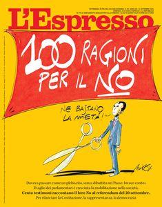 La copertina dell'Espresso in edicola e online da domenica 13 settembre
