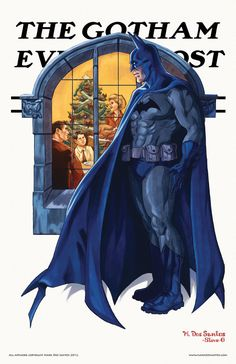 The Gotham Evening Post - Norman Rockwell Inspired BatmanArt - News - GeekTyrant
