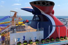 Carnival Cruise Line's new XL-class cruise ship, Mardi Gras, will be gross tons, feet long and have a capacity. The LNG-powered ship is set to debut in 2020 and sail out of Port Canaveral. Mardi Gras, Splash Zone, Florida, Best Cruise, Slide Design, Caribbean Cruise, Coasters, Sailing