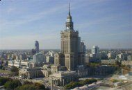 Palace of Culture and Science is a landmark of Warsaw City visible from every corner of the capital.