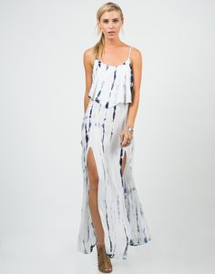 Ruffled Tie-Dye Maxi Dress – 2020AVE