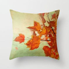 Pillow Cover Mint Orange Pillow Tree Photo by KalstekPhotography, $36.00