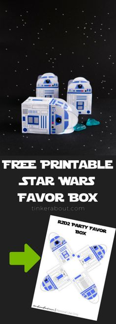 Do you want to throw your child the best Star Wars Party ever? This FREE Printable Star Wars Favor Box might be the perfect addition to your child's Star Wars Birthday Party! Fill it with Goodies and you have great Star Wars Party Favor! Star Wars Party Favors, Star Wars Party Decorations, 50th Birthday Party Decorations, Birthday Party Games, Birthday Party Invitations, Star Wars Party Games, Star Wars Invitations, Invitations Kids, Star Wars Birthday Party Favors