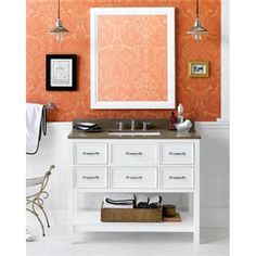 """Check out the RonBow 052742 Newcastle 42"""" Wood Vanity Cabinet with Five Functional Drawers priced at $1,592.68 at Homeclick.com."""