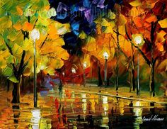 Impressionism   ... painting 2011 :: Modern impressionism palette knife oil painting kp165