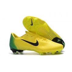 Fast shipping on all Nike football boots,such as Amazing Nike Mercurial Vapor XII PRO FG Mens Football Boots - Yellow/Black/Green and so on. Now our Nike factory store has got the best reputation around the world. Nike Football Boots, Soccer Boots, Indoor Cleats, Nike Vapor, Yellow Black, Green, Kit, Shoes, Soccer