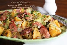 Melissa's Southern Style Kitchen: Braised Cabbage with Potatoes & Smoked Sausages