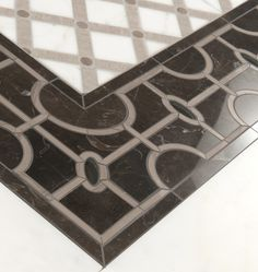 Empire Border - Water jet  Columbus - Mosaic and water jet  by Mosaique Surface