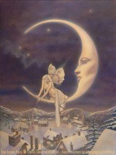 Fairy faery Moon Snow stars The Snow Fairy  ©David DelamareThe Snow Fairy©