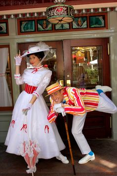 Mary & Burt - I literally squealed out loud when I saw them on Main Street USA when we were at Disneyland!  I've decided this is the costume I want to wear when we go next, Nov 2015!