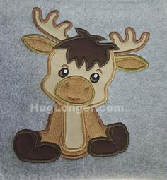 Looking for your next project? You're going to love Applique Baby Moose embroidery file by designer Hug Longer.