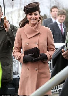 The duchess was still looking slender at the five month mark. March 15, 2013