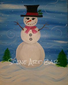 Children's step-by-step beginner's painting from Kidz Art Scene and Scene Art Bar in Unionville, CT