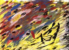 Sergio Galiero. Giocando coi colori (2014). Tempera su carta