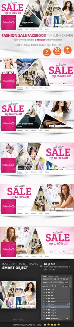 Fashion Sale Facebook Timeline Cover Template PSD #design Download: http://graphicriver.net/item/fashion-sale-facebook-timeline-cover/11169146?ref=ksioks