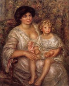 Madame Thurneyssan and Her Daughter - Pierre-Auguste Renoir