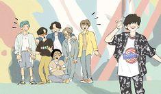 Bts Taehyung, Bts Bangtan Boy, Bts Jimin, Bts Chibi, Foto Bts, Bts Laptop Wallpaper, Cute Desktop Wallpaper, Bts Gifs, Dibujos Cute