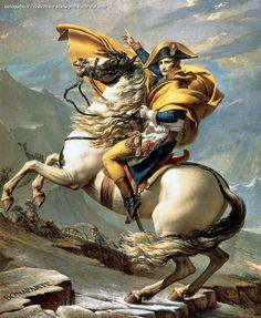 Jacques-Louis David – Napoleone supera le Alpi al Gran San Bernardo, 1800, Malmaison