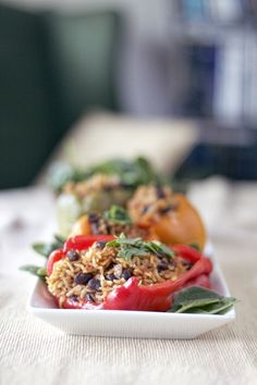 Vegetarian Stuffed Peppers - crock pot