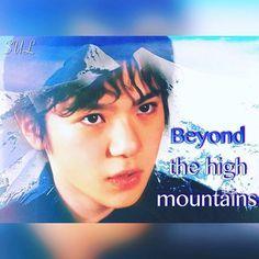 いつの日か高い山々を越えていってほしい、という願いを込めて🏔 #宇野昌磨 #shomauno #フィギュアスケート #figureskating #加工画 #コラージュ #collage #越えて #beyond #願い #Wish #山々 #mountains