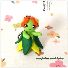 Polymer clay bellossom Pokemon (kireihana), key chain