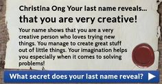What secret does your last name reveal?