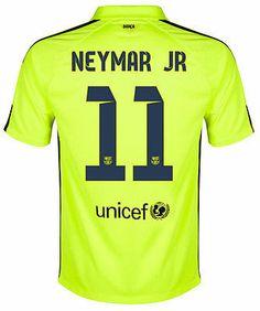 NIKE NEYMAR JR FC BARCELONA THIRD 3RD JERSEY 2014 15 Volt Loyal Blue Fc af318fe327165