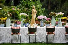 Charming details for a romantic garden wedding at Belmond Villa San Michele. Photo by Joee Wong.
