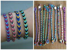 fish tail friendship bracelet! - Google Search