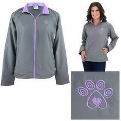 Women's Purple Paw Lightweight Jacket - XL #AnimalRescue #BasicJacket