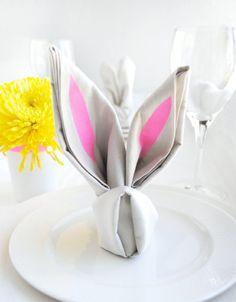 osterhase servietten falten origami hase basteln