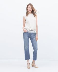 ZARA - WOMAN - HIGH NECK TOP. Cutie!